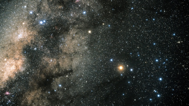 Star field of Constellation Scorpius